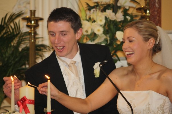 Enda and Tara at the Alter
